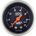 Manometro ODG Combustivel Preto Aro Prata 7kg 52mm