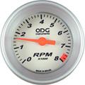 Conta Giro RPM ODG Prata 52mm