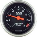 Conta Giro RPM ODG Preto 52mm